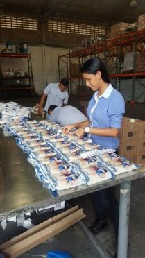 Alistamiento arroz en bodegas Almaviva Cartagena